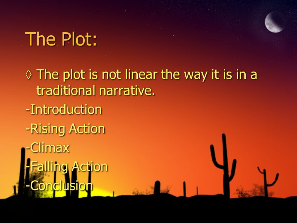 The Plot: ◊Instead, the plot is cyclical as the characters evolve through the experience of waiting , and revolves from hope to despair, but kept in motion by the reoccurring motif of, its not certain