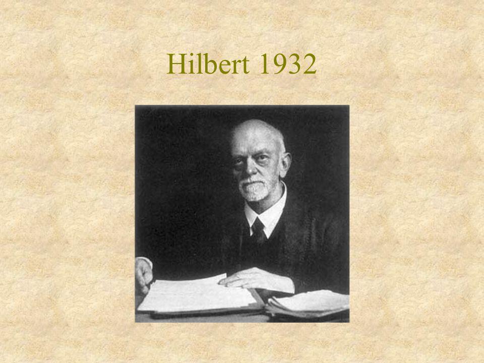 Hilbert 1932