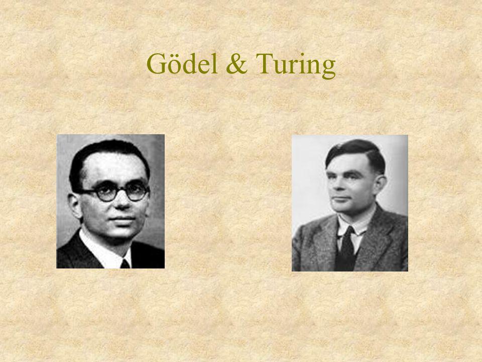 Gödel & Turing