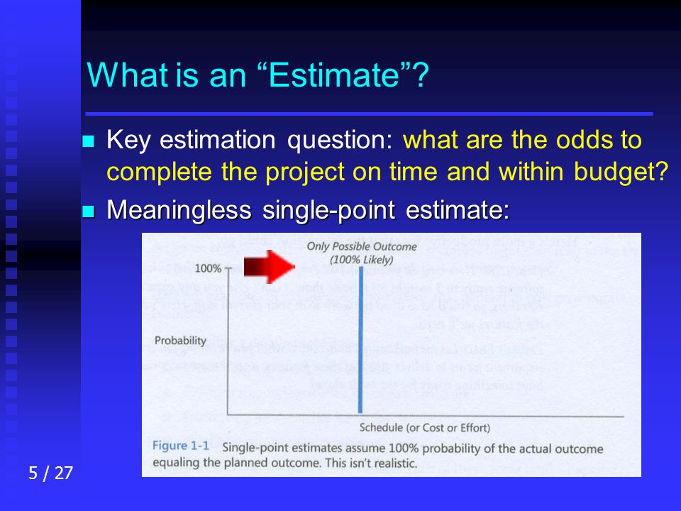 5 / 27 What is an Estimate .