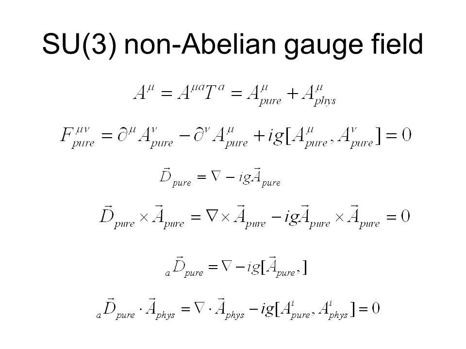 SU(3) non-Abelian gauge field