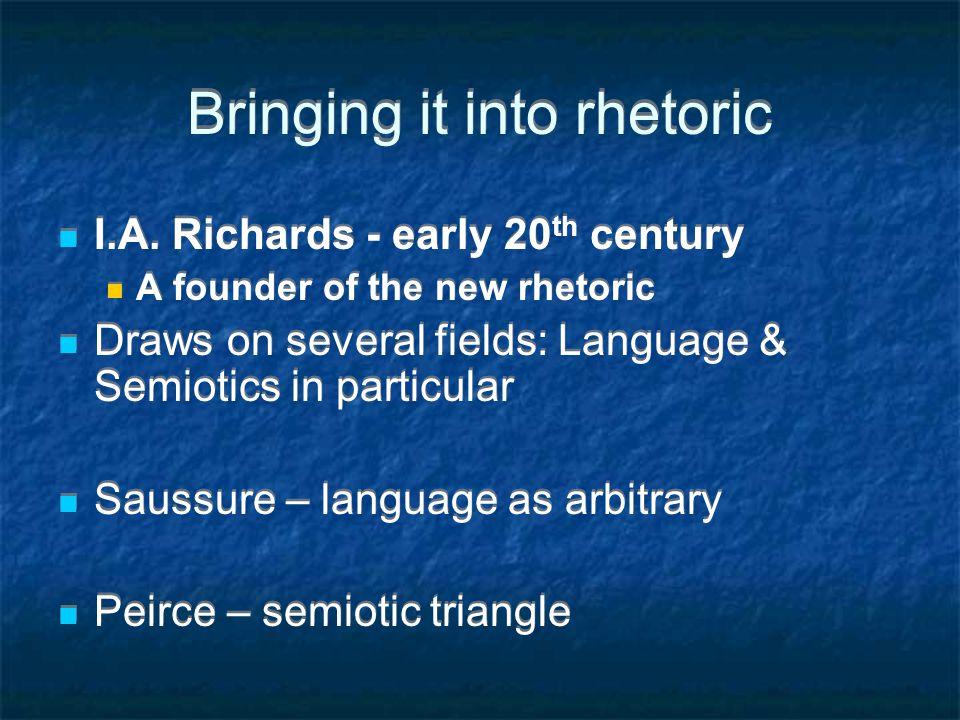 Bringing it into rhetoric I.A.