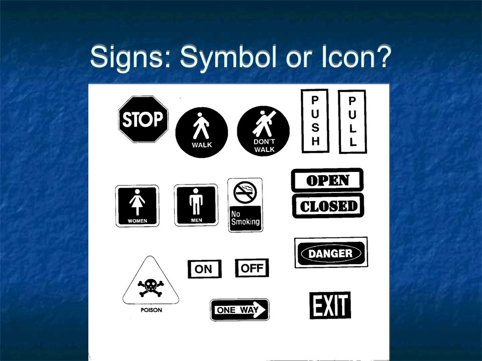 Signs: Symbol or Icon?