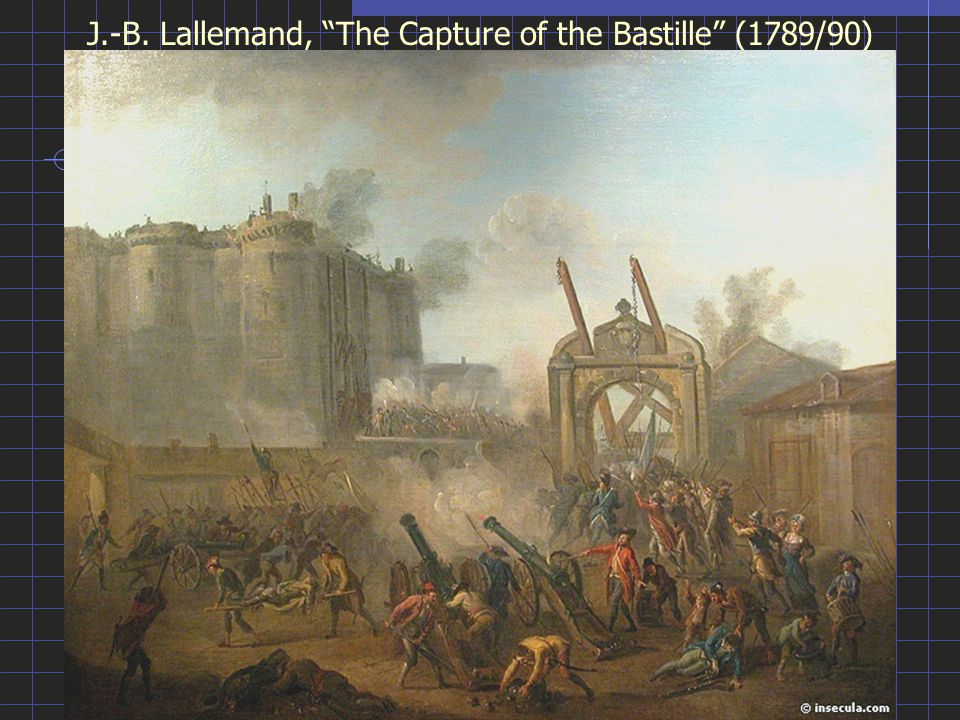 J.-B. Lallemand, The Capture of the Bastille (1789/90)