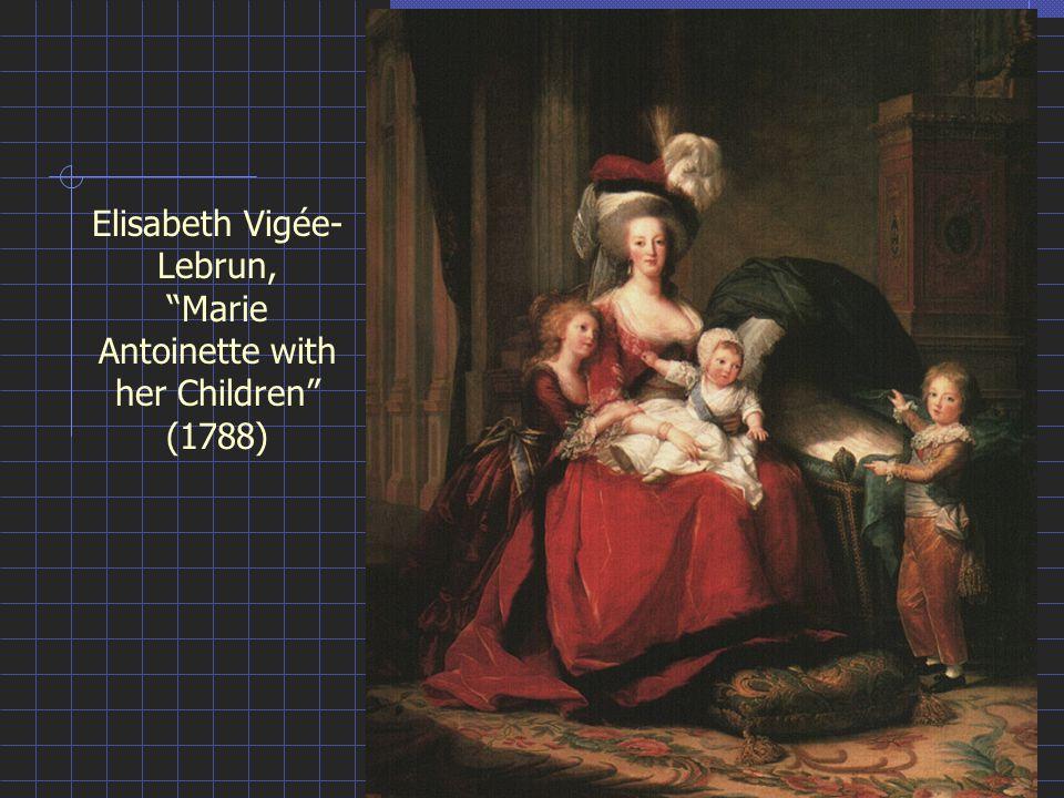 Elisabeth Vigée- Lebrun, Marie Antoinette with her Children (1788)