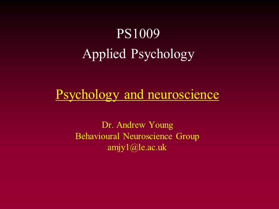 PS1009 Psychology and brain function As psychologists we study the interaction between an organism and its environment Perceiving the environment (sensory perception) Behavioural responses Integration Decision Transmission The Brain Neurones Chemicals (Neurotransmitters) Neuronal connectivity Electrical activity