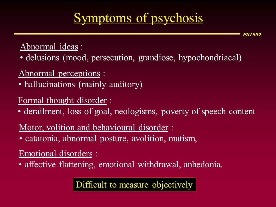 PS1009 Can psychology help us understand schizophrenia.