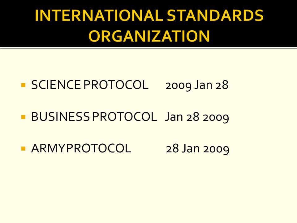  SCIENCE PROTOCOL 2009 Jan 28  BUSINESS PROTOCOL Jan 28 2009  ARMYPROTOCOL 28 Jan 2009