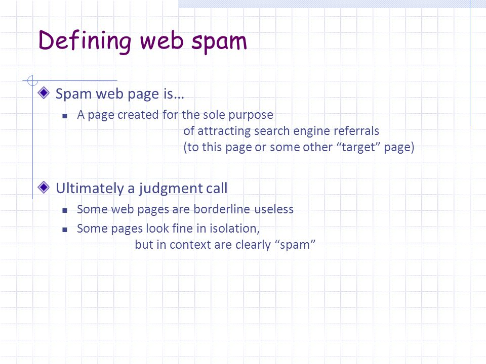 Web forum and blog spam