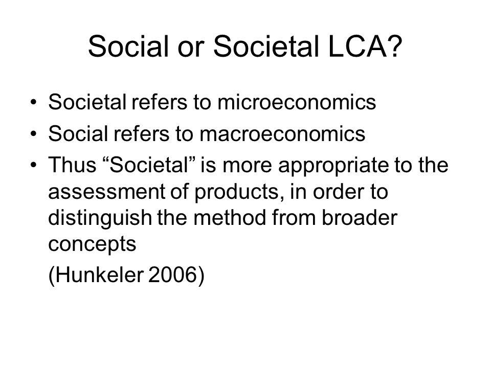 Social or Societal LCA.
