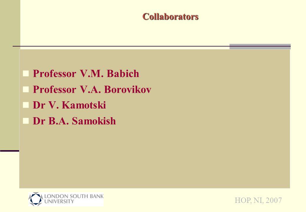 HOP, NI, 2007 Code validation (P-P amplitudes)