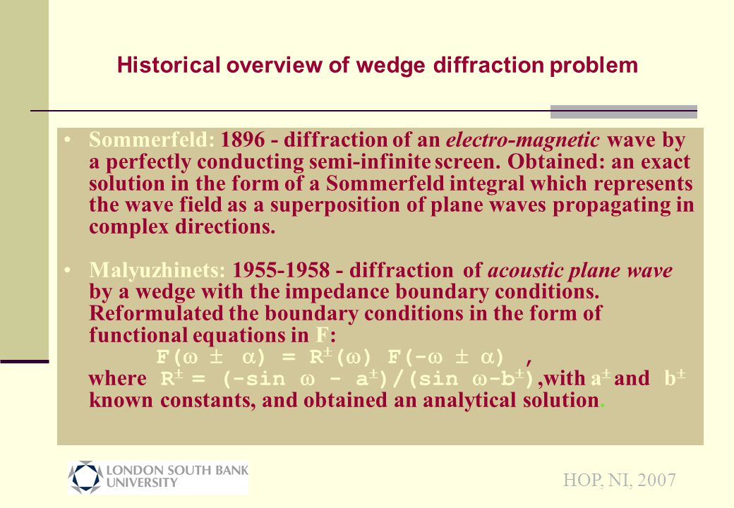 HOP, NI, 2007 Code validation (S-S phases) AngleLSBU Theory Gau Theory Birch Exper 15 0 34 0 13 0 20 0 -43 0 -60 0 25 0 -34 0 -45 0