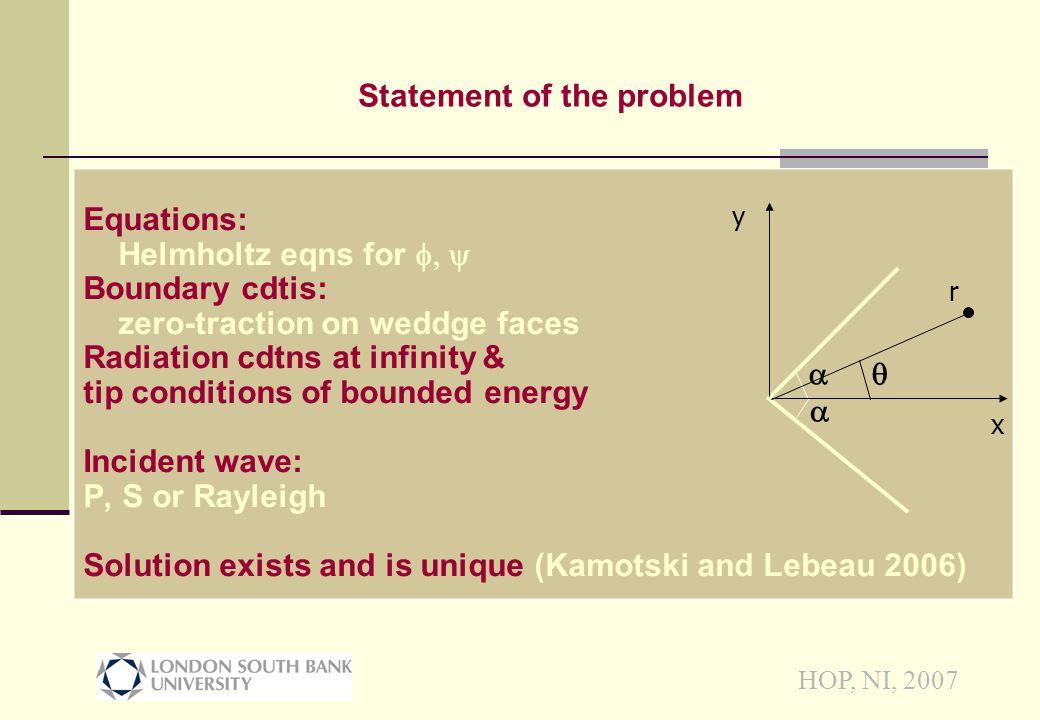 HOP, NI, 2007 Conclusions