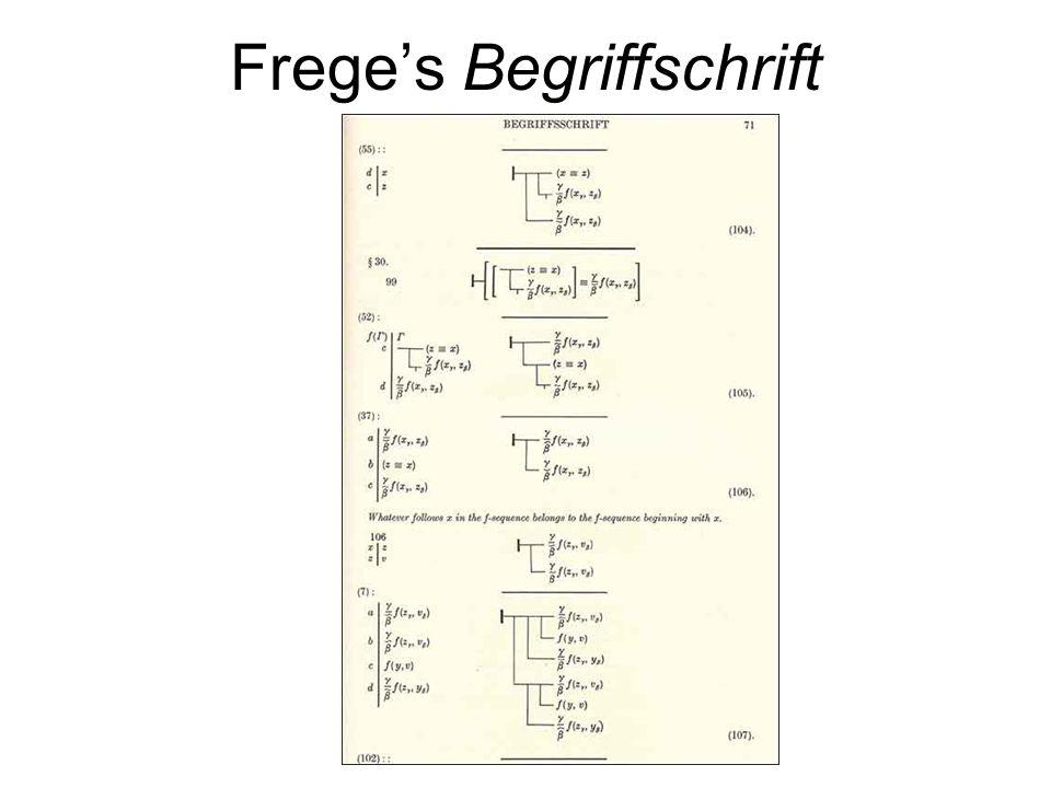 Frege's Begriffschrift