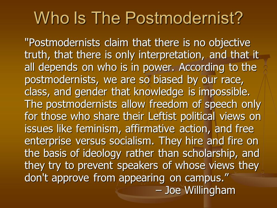 Who Is The Postmodernist.