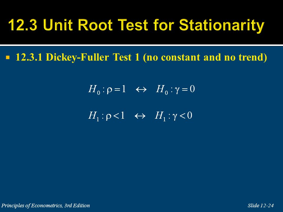  12.3.2 Dickey-Fuller Test 2 (with constant but no trend)