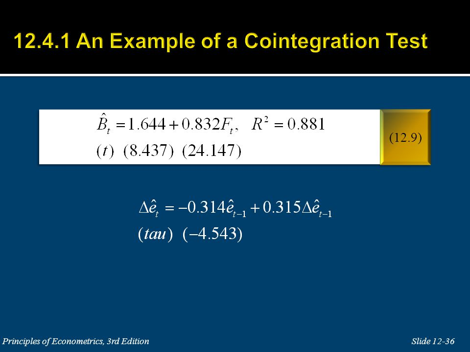 The null and alternative hypotheses in the test for cointegration are: