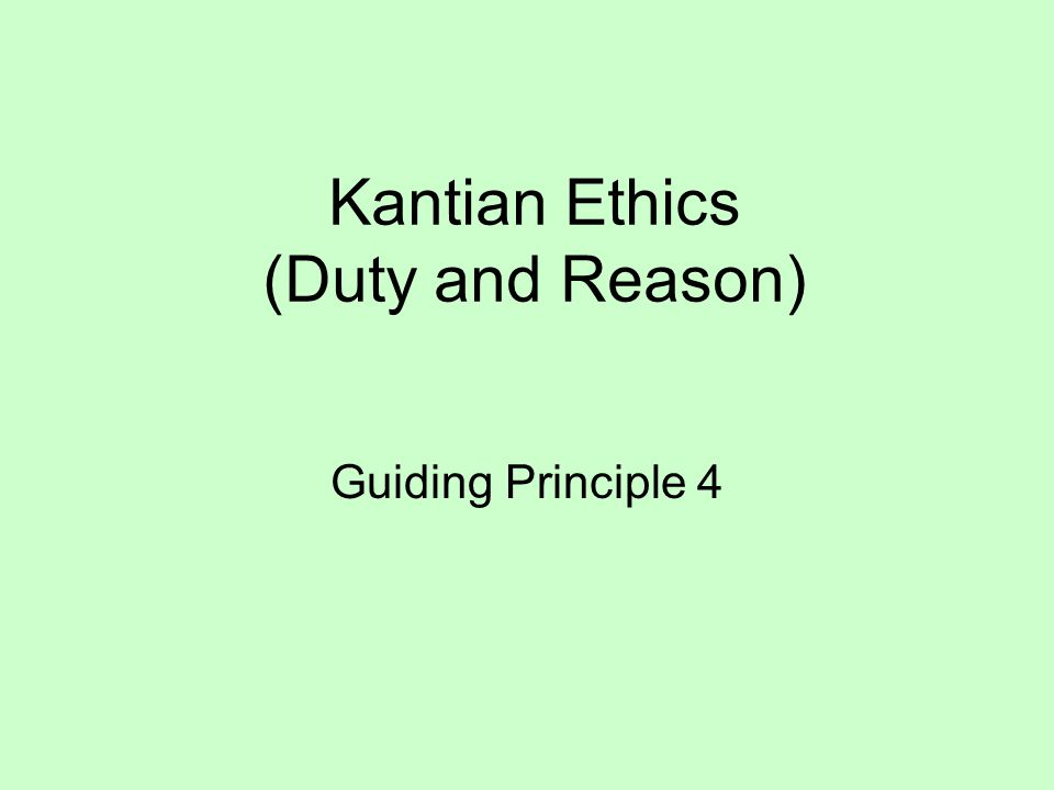 Kantian Ethics This is an example of an autonomous value system.