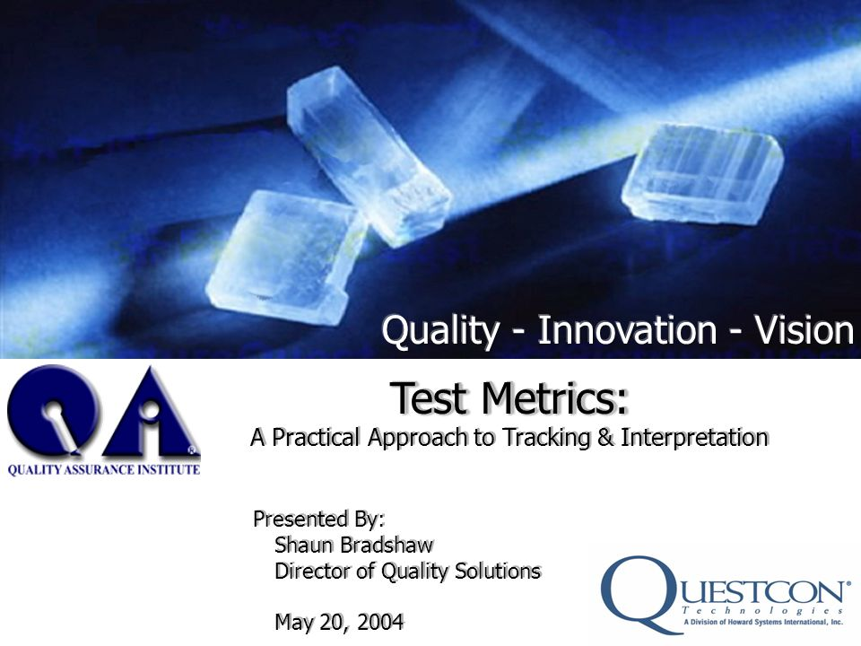 Slide 22 Metrics Case Study Reduction of 33.3% in the cost of defect repairs Every project moving forward, using the same QA principles can achieve the same type of savings.