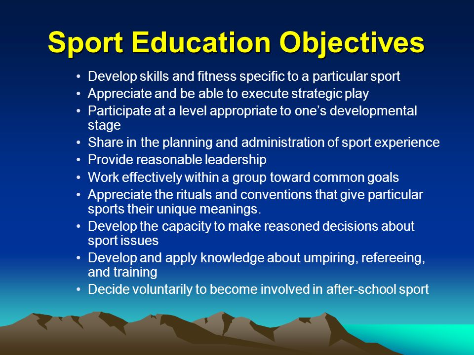 Differences Between Sport and Physical Education SportPhysical Education Done in seasons that are long enough to make the experience significant Organized in units that are short.