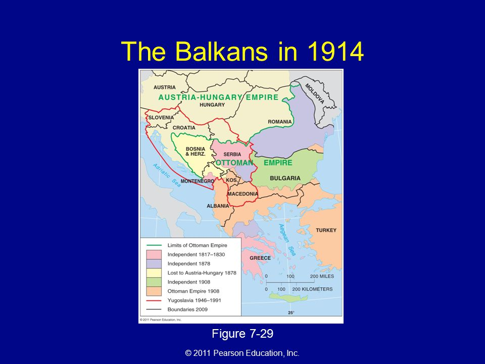 © 2011 Pearson Education, Inc. The Balkans in 1914 Figure 7-29