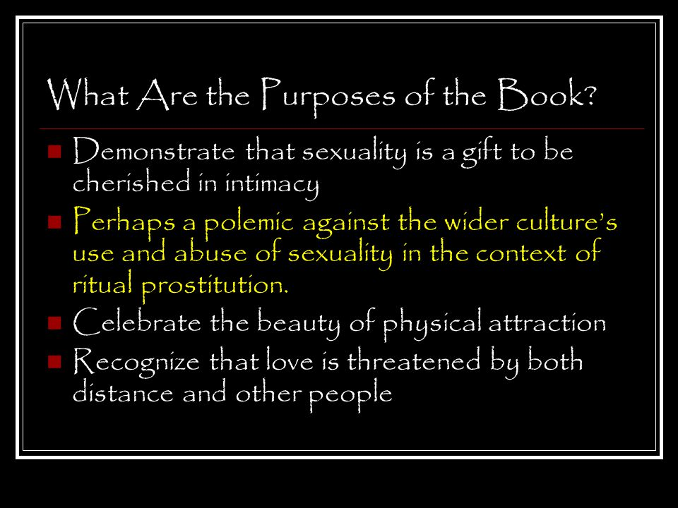 What Are the Purposes of the Book.