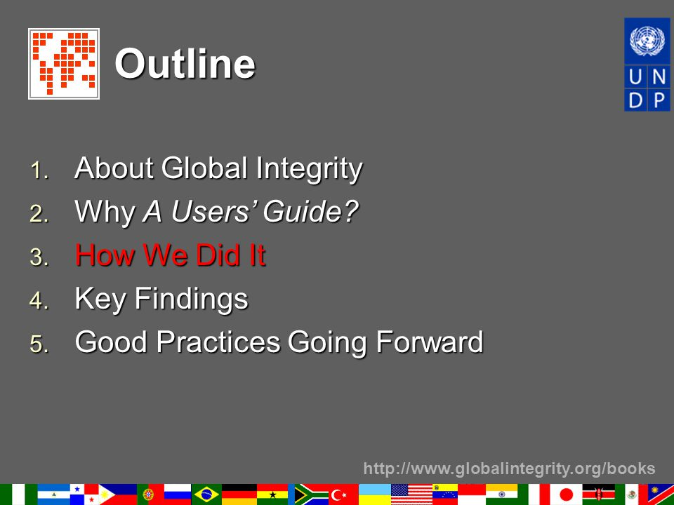 http://www.globalintegrity.org/books Outline 1.About Global Integrity 2.