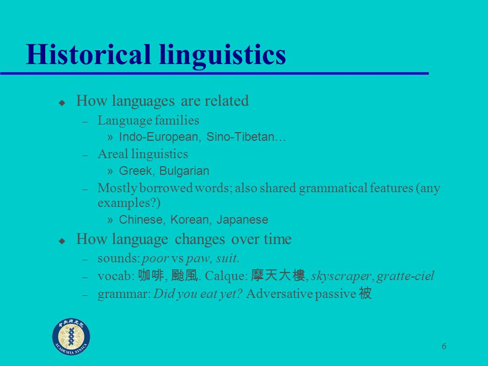 7 Sociolinguistics u Diglossia: high and low prestige languages – The role of Mandarin and Taiwanese in a bilingual society – The changing role of English in Taiwan society: borrowing, or showing off.