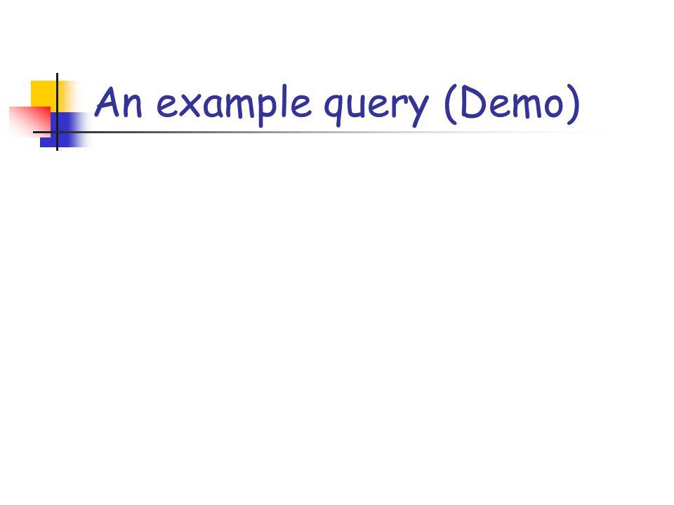 An example query (Demo)