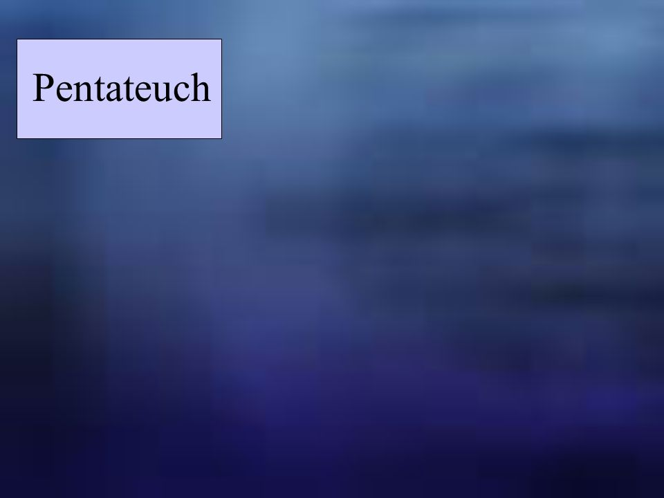 Pentateuch