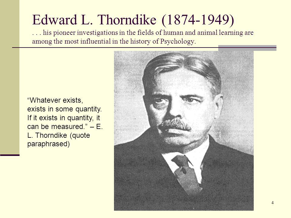 Edward L. Thorndike (1874-1949)...