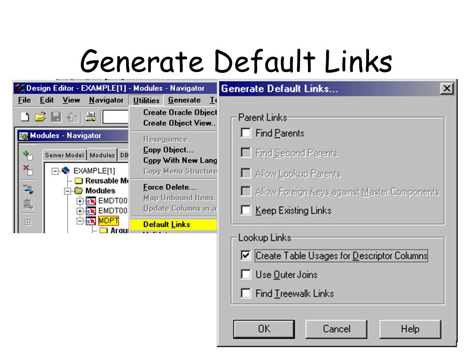 Generate Default Links