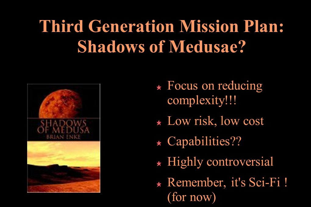 Third Generation Mission Plan: Shadows of Medusae.