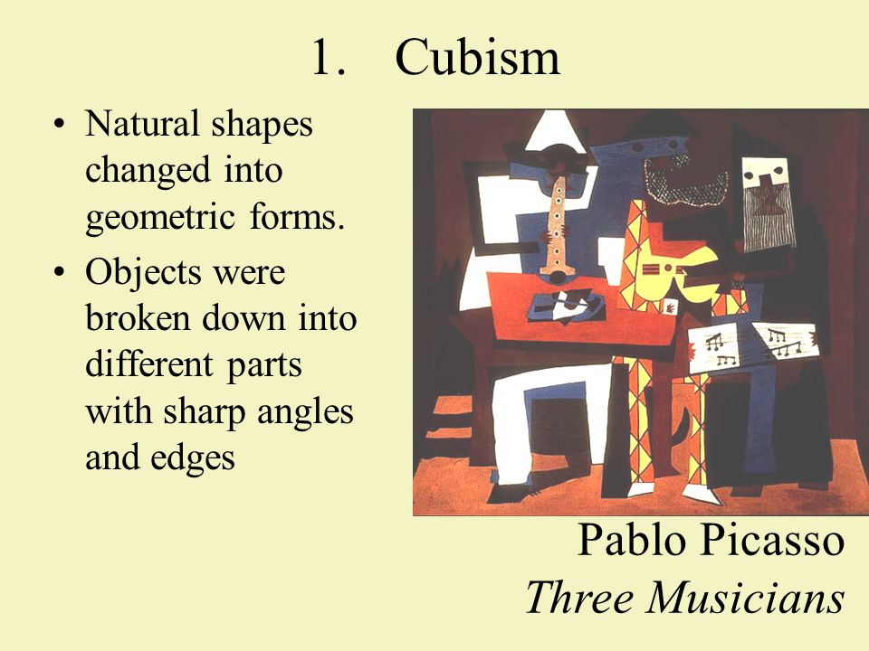 2.Dadaism Artwork was meant to be absurd, nonsensical, & meaningless.