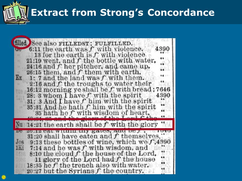 Extract from Strong's Concordance