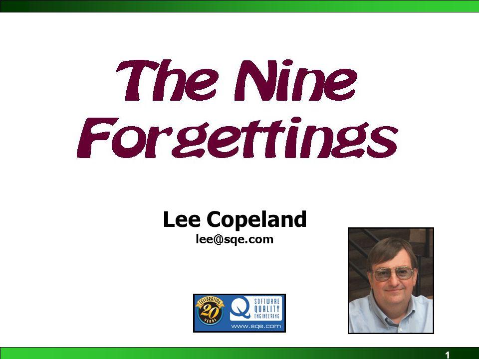 1 Lee Copeland lee@sqe.com