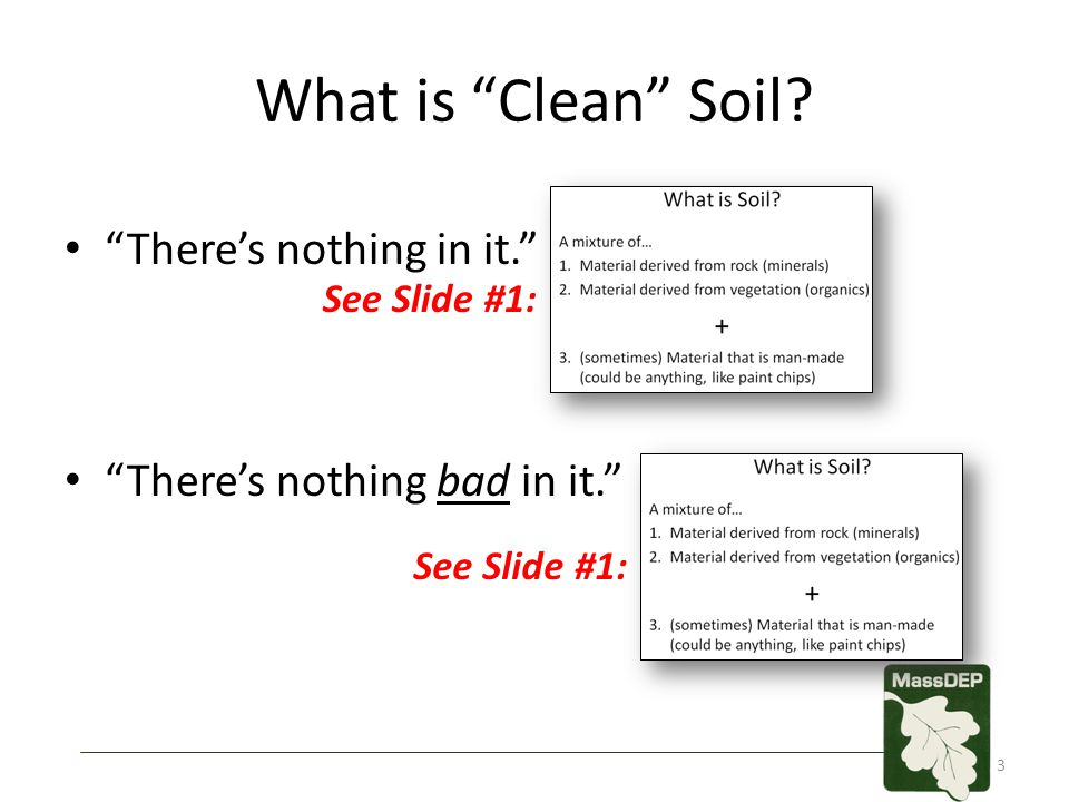 What is Clean Soil.A: A meaningless term.