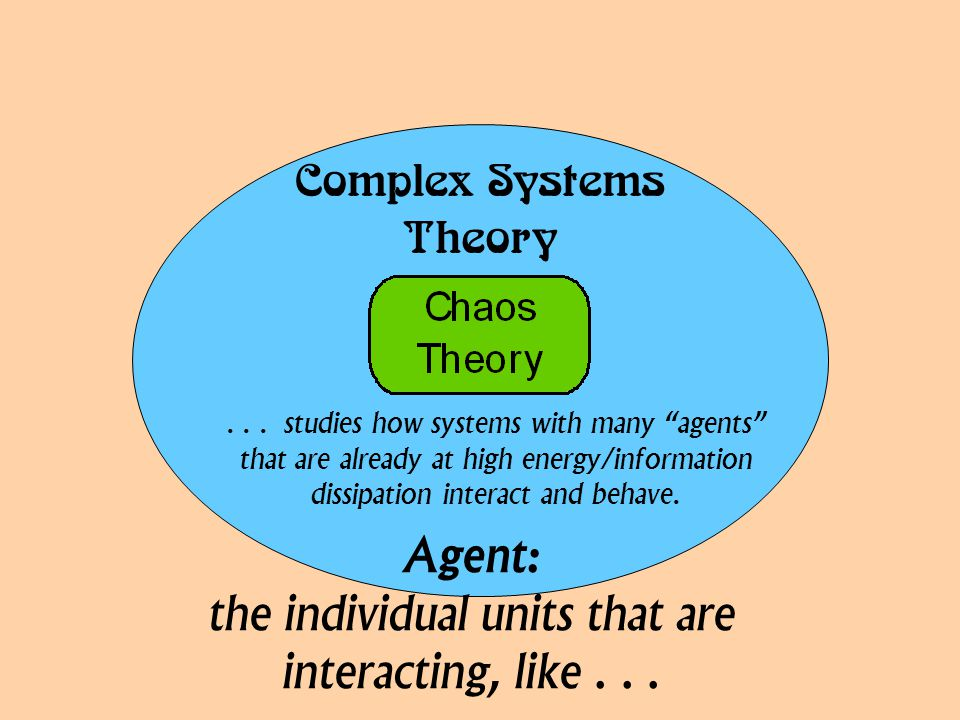 """ ... studies how systems with many """"agents"""" that are already at high energy/information dissipation interact and behave. Agent: th"""