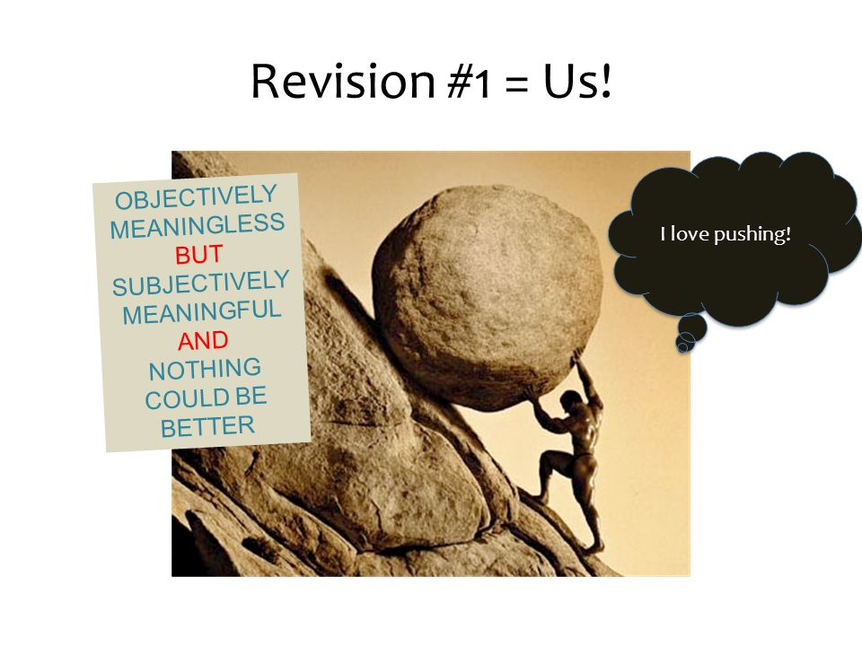 Revision #1 = Us. I love pushing.