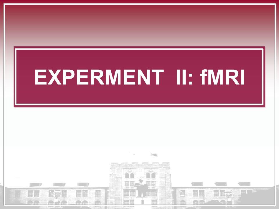 EXPERMENT II: fMRI