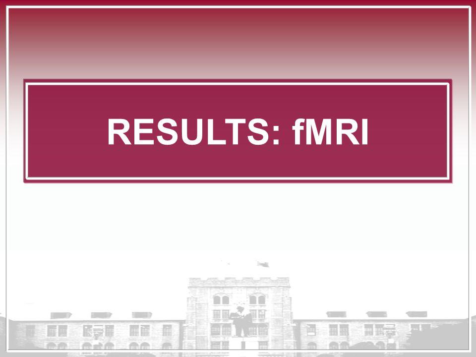 RESULTS: fMRI