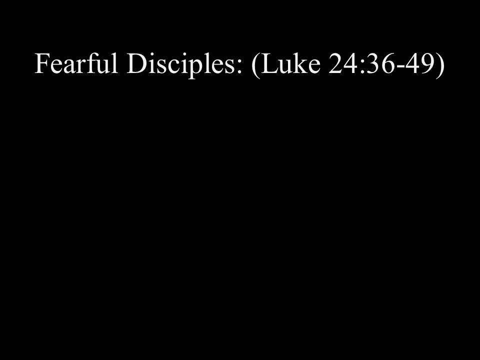 Fearful Disciples: (Luke 24:36-49)