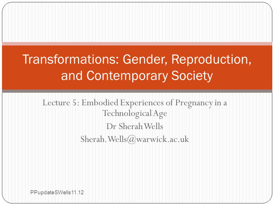The gestation of a lecture Part 1 Dos and Dont's Introduction to antenatal testingPart 2 Gender, risk, responsibility and decision-making Part 3 'Ultrasound in a visual society: a Light and Sound Show