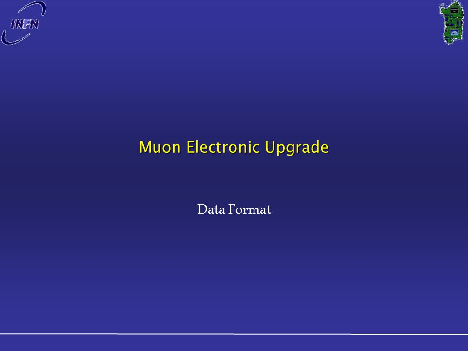 Muon Electronic Upgrade Data Format