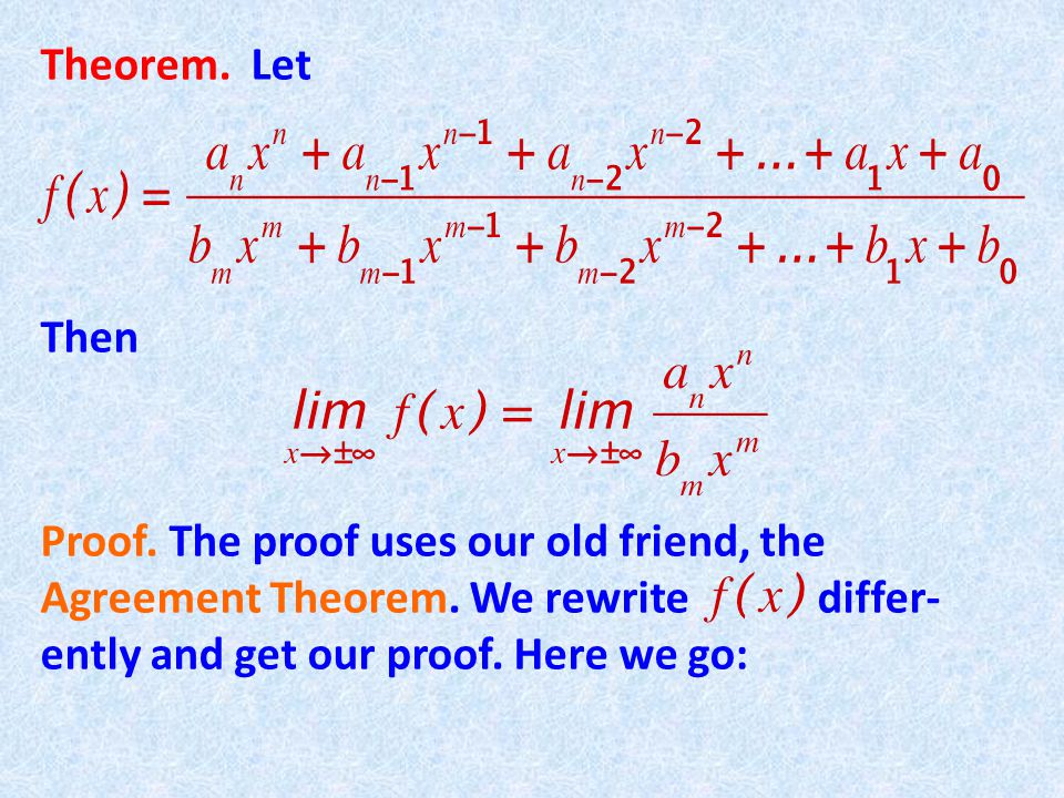 Theorem. Let Then Proof. The proof uses our old friend, the Agreement Theorem.