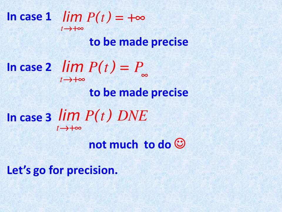 Limit laws: Assume that both exists (finite !) Then assuming that when is even.