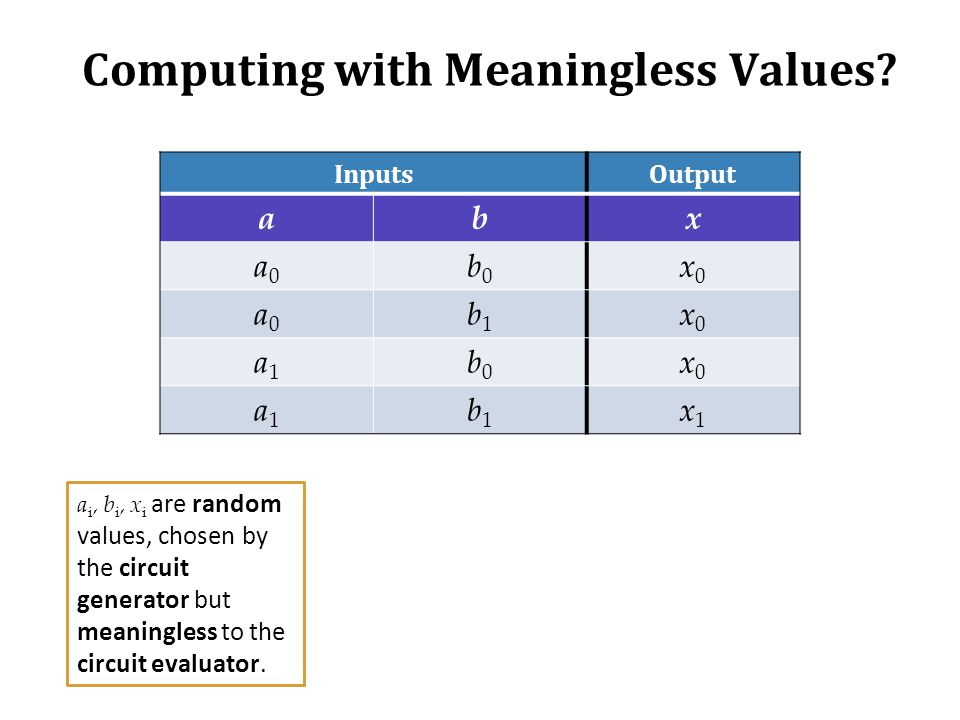 Computing with Meaningless Values.