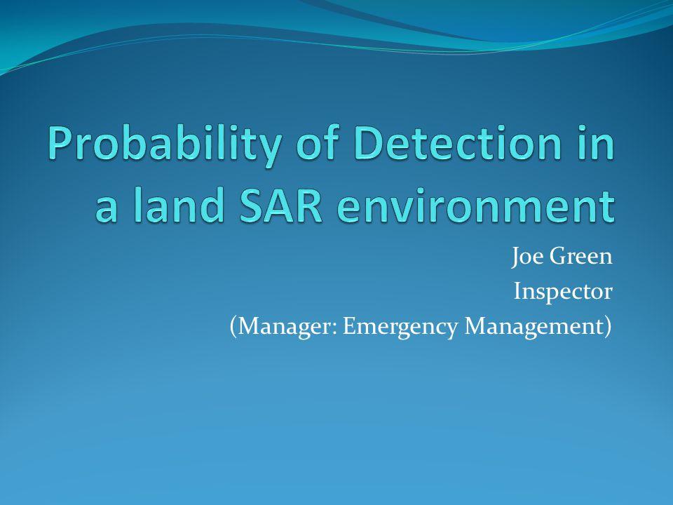 Joe Green Inspector (Manager: Emergency Management)