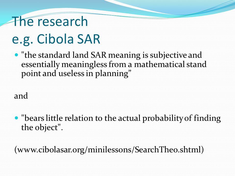 The research e.g.