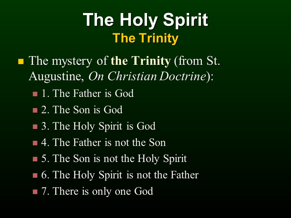 The mystery of the Trinity (from St.